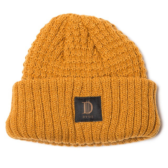 【Deviluse | デビルユース】D Roll Beanie(Mustard)