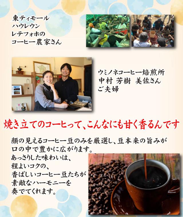 顔の見えるスペシャルティ―コーヒー200g 東ティモール レティフォホ ウォッシュド