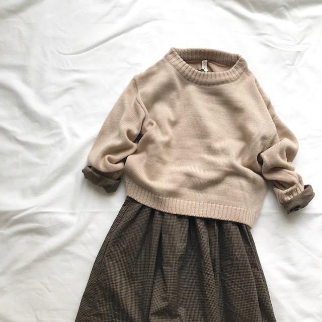 (90cm100cmのみ)cotton knit sweater