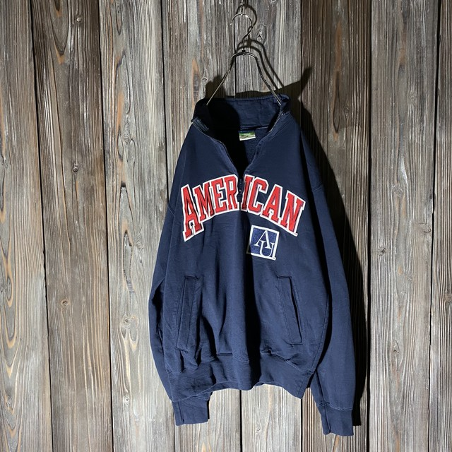 [Champion]big logo navy pullover