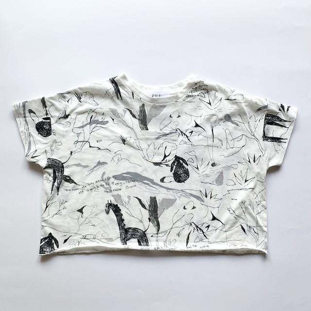 folk made stones T-shirts (offwhite print) LLサイズ F20SS-009※メール便可