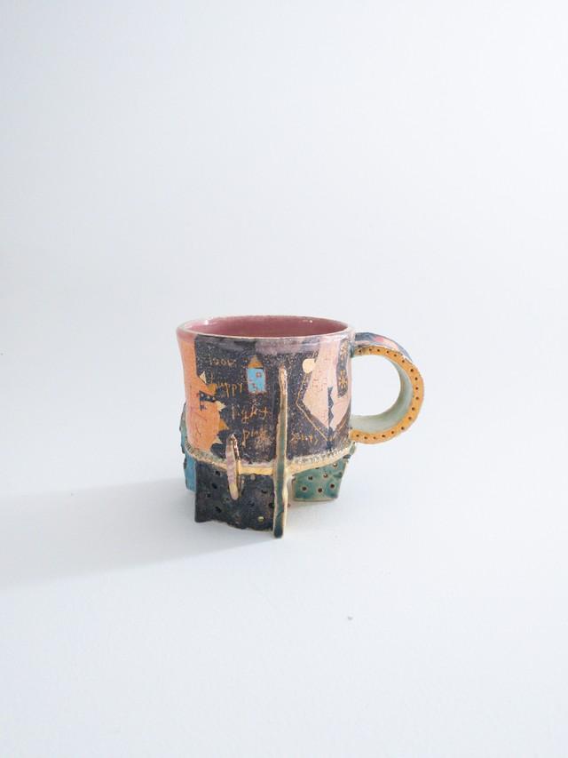 ウエダキヨアキ 手びねり貼り付けマグカップ 8