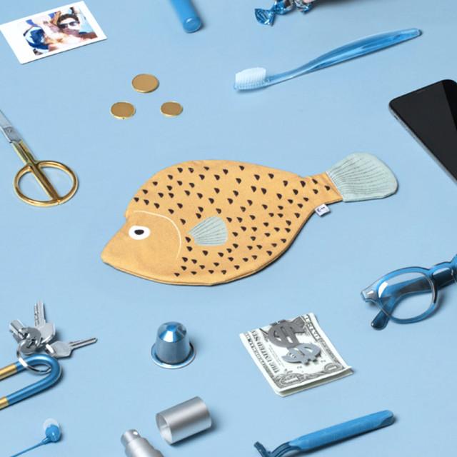 《魚/マトウダイ》 おさかなポーチ DON FISHER ドンフィッシャー SAINT PETER スペイン 輸入雑貨 イエロー
