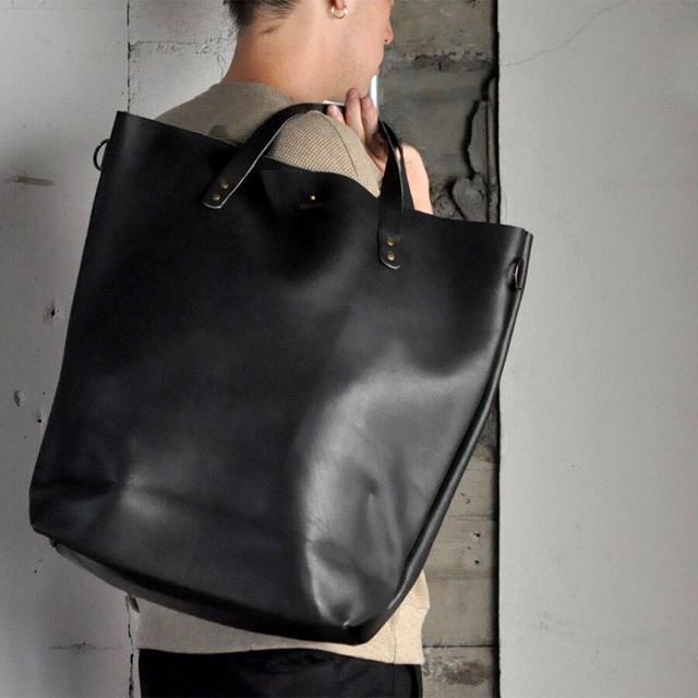 John Woodbridge & Sons Makers -leather tote bag (L)-
