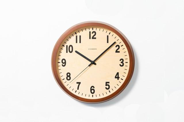掛け時計 PUBLIC CLOCK【CAFE BROWN】