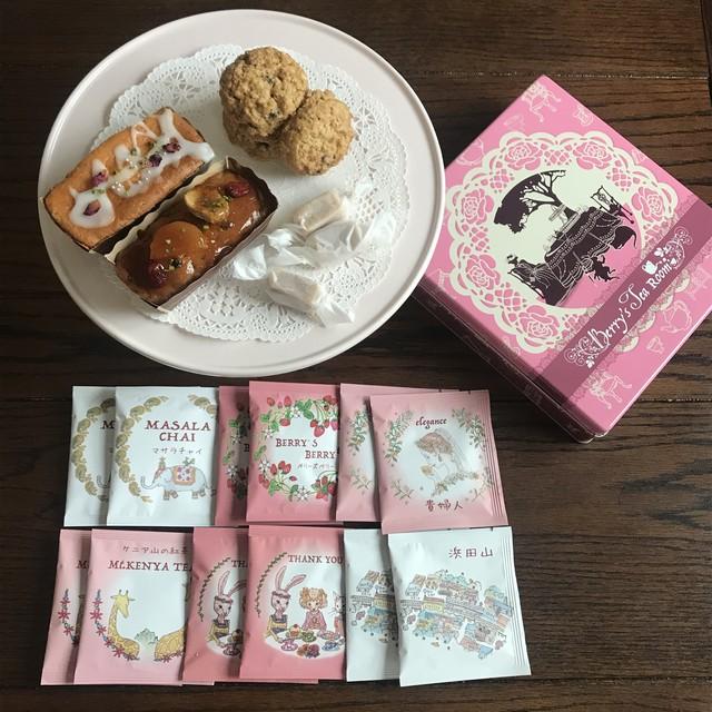 【母の日配送可♪】オリジナル缶入り英国菓子&紅茶缶