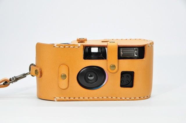 ヌメ革「写ルンです」カメラケース2型