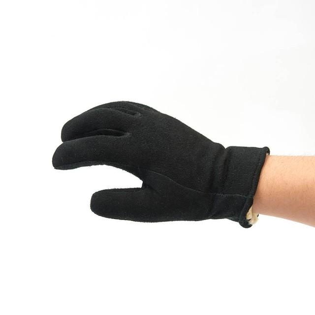 GEIER GLOVE Deer Skin Suede Glove Black 530BLKLDP