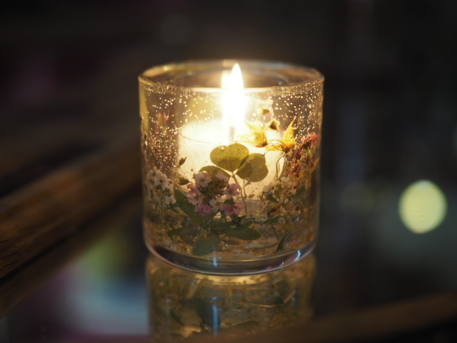 Pressed Flowers Candle Holder 8