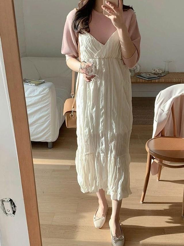 ラグジュアリーシルクキャミ キャミ トップス 韓国ファッション