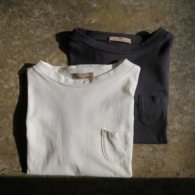 Aonoha別注  Stand Boat Neck Tee  2color(womens)