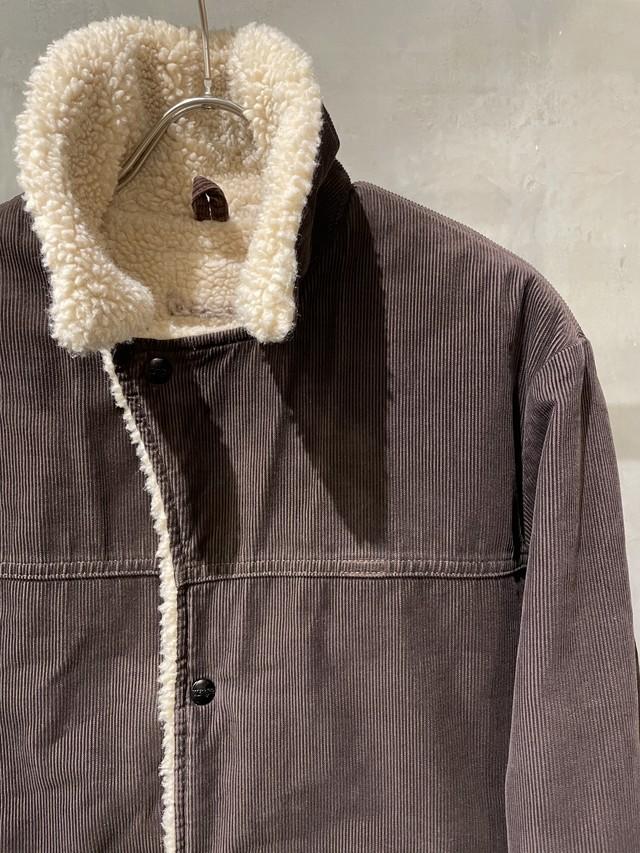 pre-fix corduroy boa jacket - dark brown