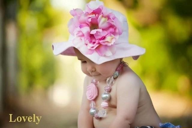 110【JamieRaeHats ジェイミーレイハット】<サンハット>ペールピンク/ペールピンクしゃくやく USAサイズ2歳~4歳