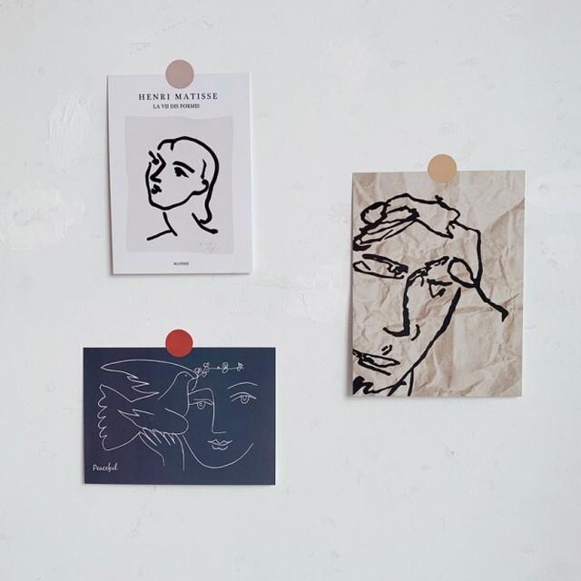アートポストカード3枚セット R1085