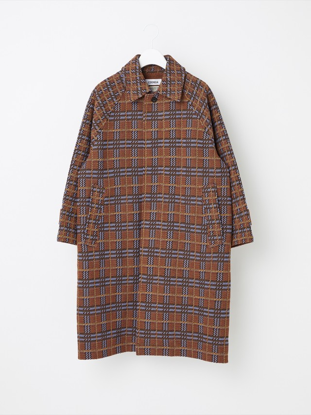 【COOHEM UNISEX】RETRO CHECK TWEED COAT