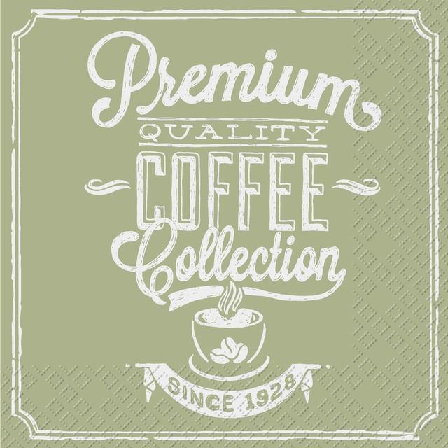 【Stewo】バラ売り2枚 ランチサイズ ペーパーナプキン COFFEE COLLECTION ベージュ