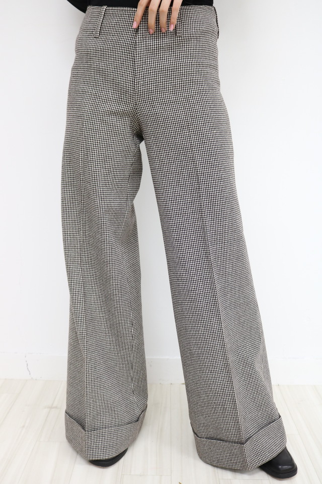 Plover pattern wide pants / PT11260012