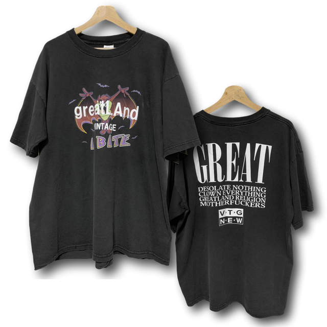 greatLAnd VINTAGE TAZ MANIAN DEVIL BAT TEE BLACK XL