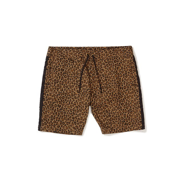 CAPTAINS HELM #Satin-Line Leopard Shorts