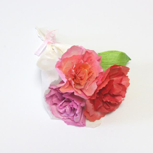 和紙花のボックスフラワー