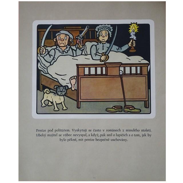 チェコ 古いポスター ネプラクタの絵つき小話 23 夫婦