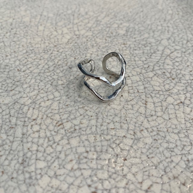 layered ring / silver