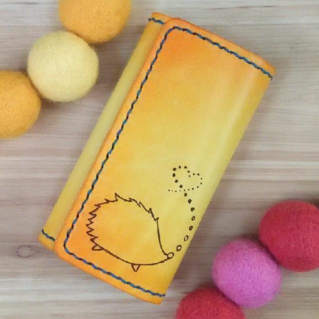 オトナ☆かわいい キーケース 4連 イエロー オレンジ はりねずみ