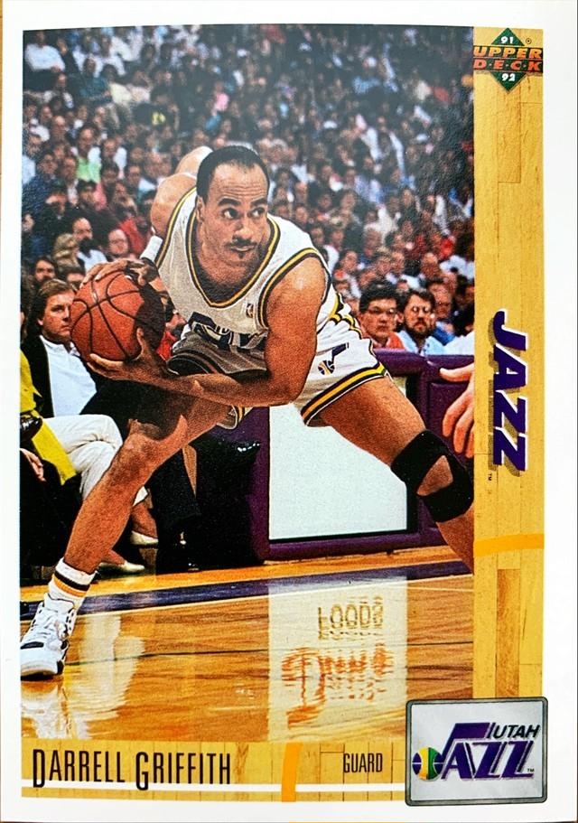 NBAカード 91-92UPPERDECK Carrell Griffith #131 JAZZ
