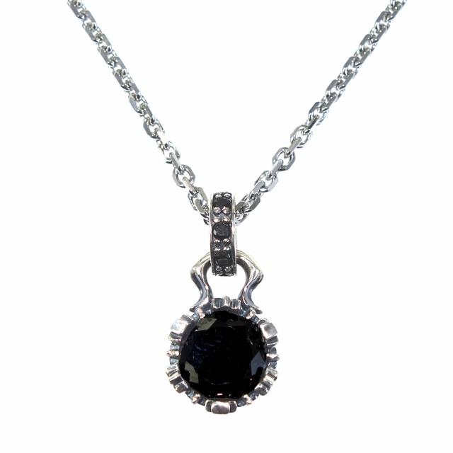 ストーンクラウンチャームBK ACP0218BK Stone crown charm black