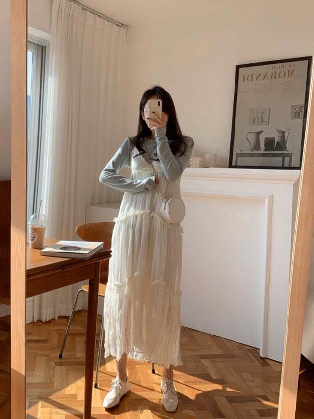 カーディガンセットワンピース ワンピース 韓国ファッション