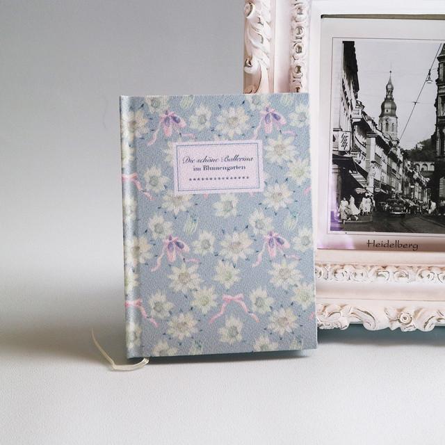 特別なことを綴るための手製本ノート*フランネルフラワー とトゥシューズ