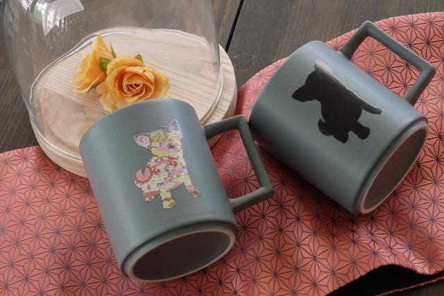 『温感マグ』『チワワ』 『クールグレー』*温度をデザインに 温感マグ カワイイ 犬好き マグカップ 贈り物 プレゼント