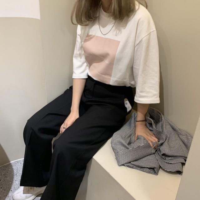 【SSC atelier】wide silhouette pants (black)