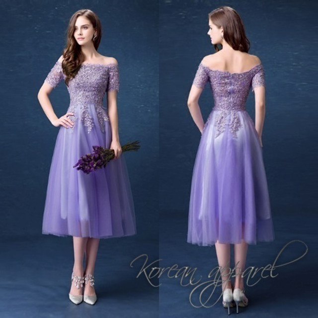 ミディアム 結婚式 ドレス ワンピース エレガント