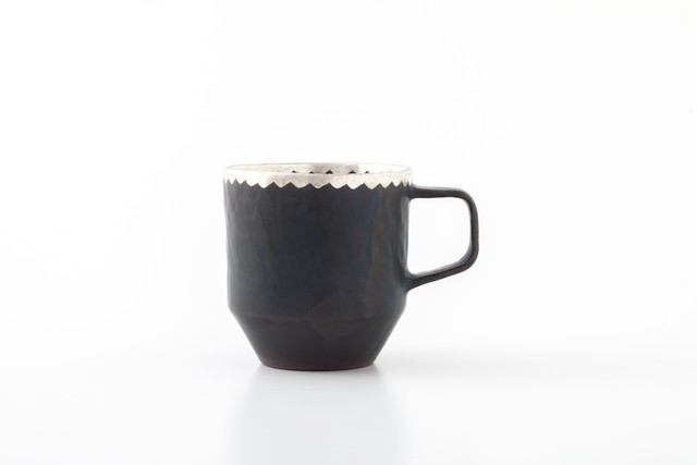 stacking mug:銀縁波(01-2) / holk store × 中囿義光
