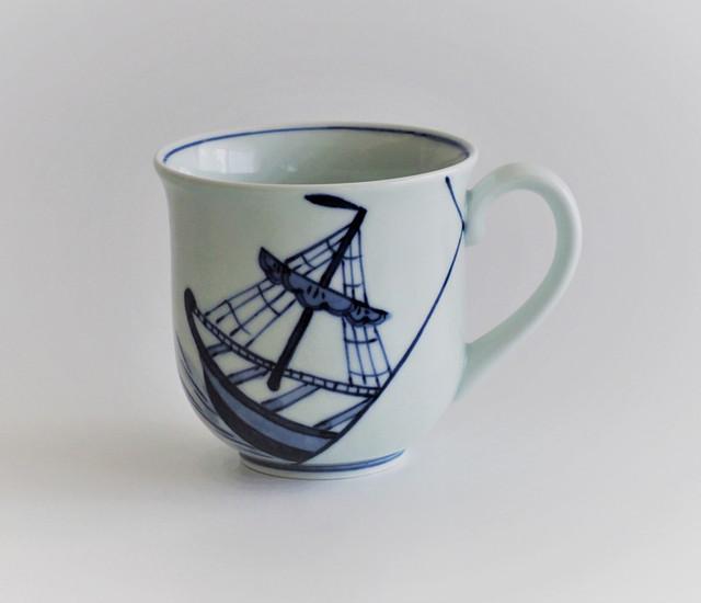 444 反マグカップ 出船帆船