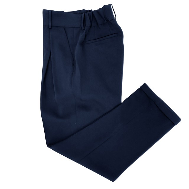 Formal Cross Tuck Pants/NAVY