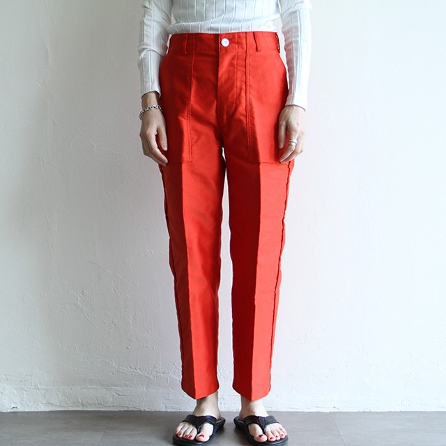 PHEENY【 womens 】pe/c wide rib slit pants