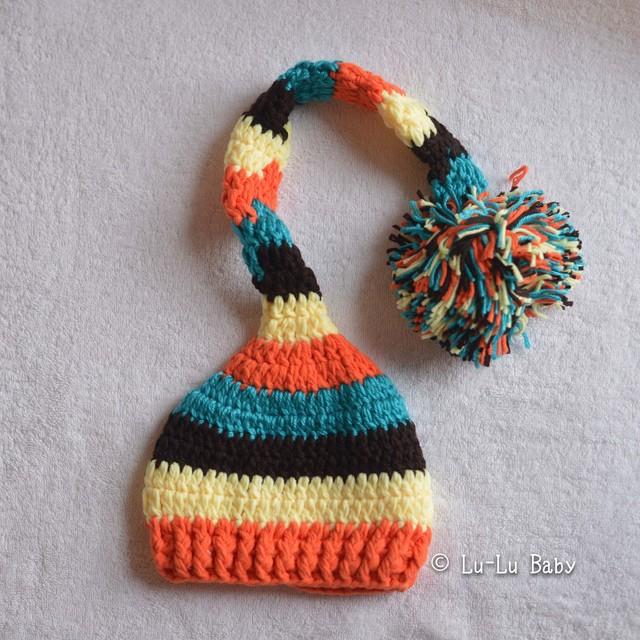 ボリュームたっぷり毛糸の帽子