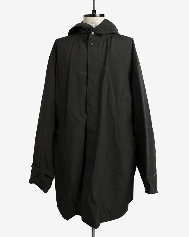 T/f nylon snow camo hoodie - burnt