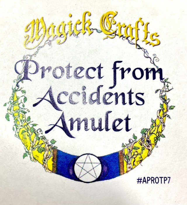 Protect from Accidents Amulet プロテクトフロムアクシデントアミュレット 白魔術アミュレット