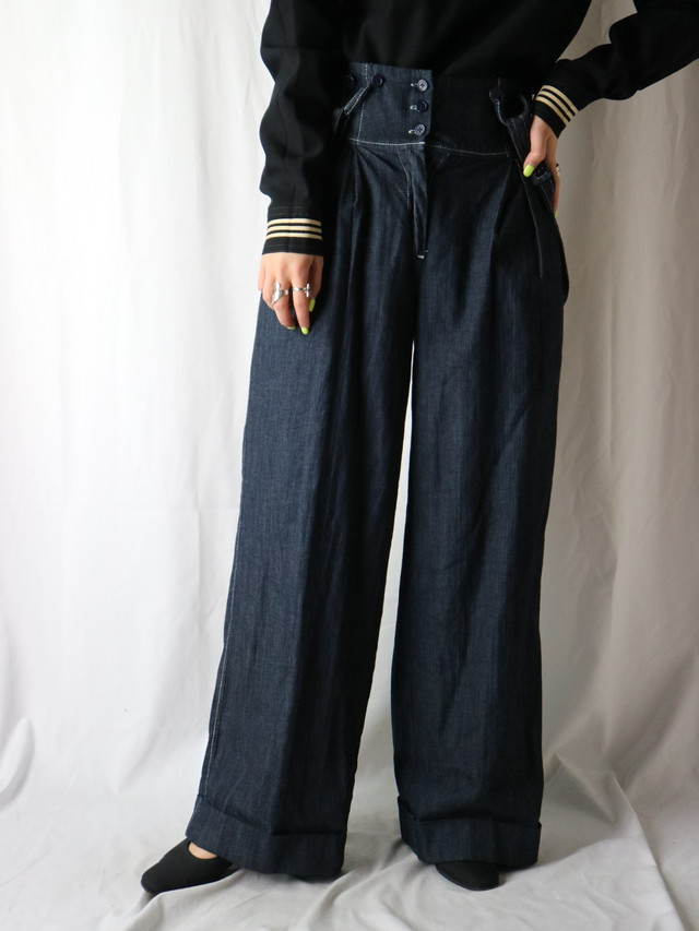 suspender wide pants【5525】