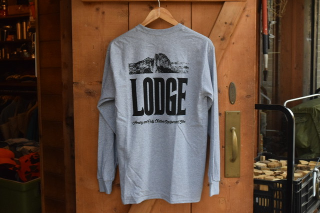 新品 LODGE L/S Pocket T-Shirt -Gray