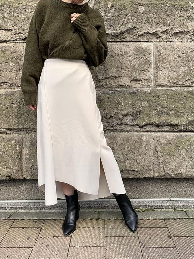 アシンメトリースカート[Color:アイボリー]