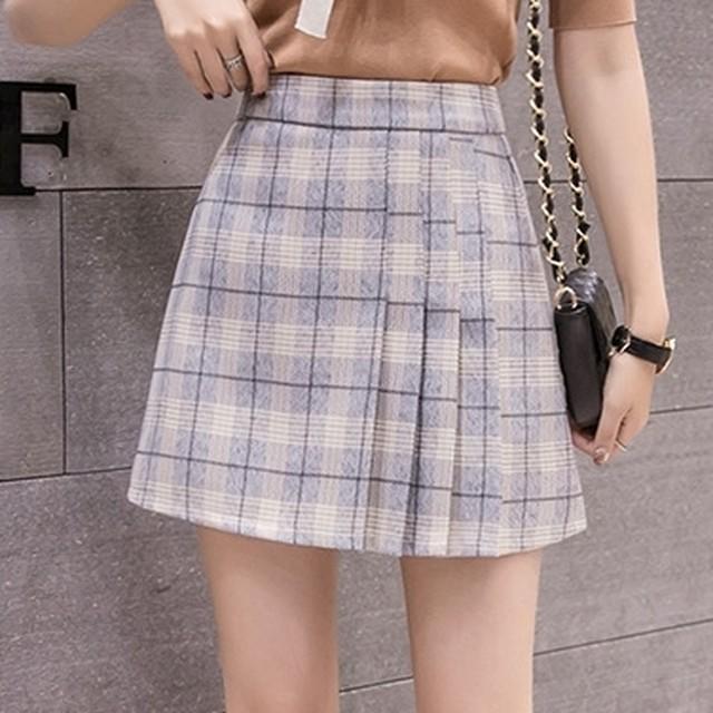 サイドプリーツボックススカート 1124