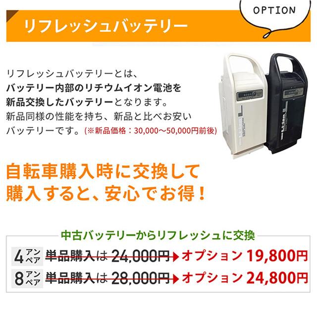 【オプション】新品リフレッシュバッテリー 8Ahに交換