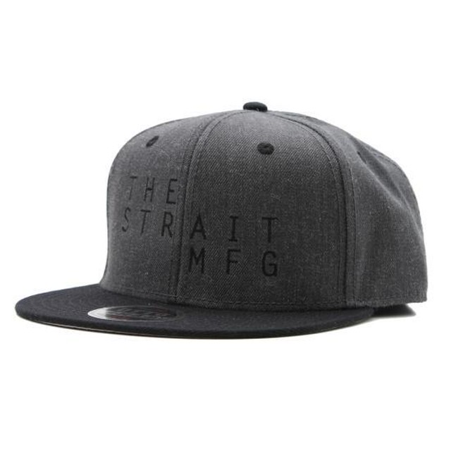 TSM SNAPBACK CAP #BLACK X HEATHER