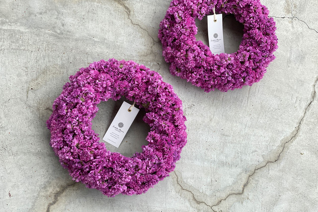 Statice Wreath Pink 03 | スターチスリース