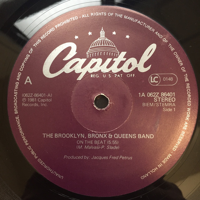 The Brooklyn, Bronx & Queens Band ‎– On The Beat