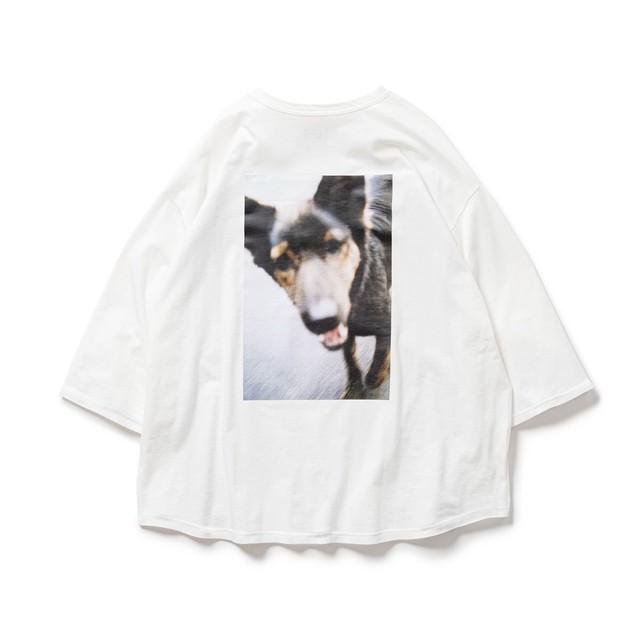 TIGHTBOOTH DOG 7 SLEEVE T-SHIRT(TIGHTBOOTH / JIRO KONAMI)WHITE